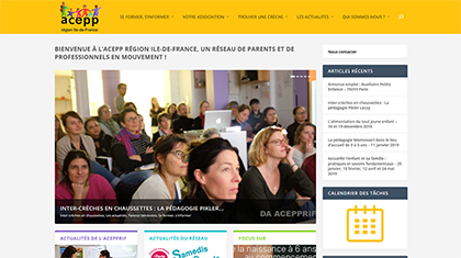 page accueil site acepprif